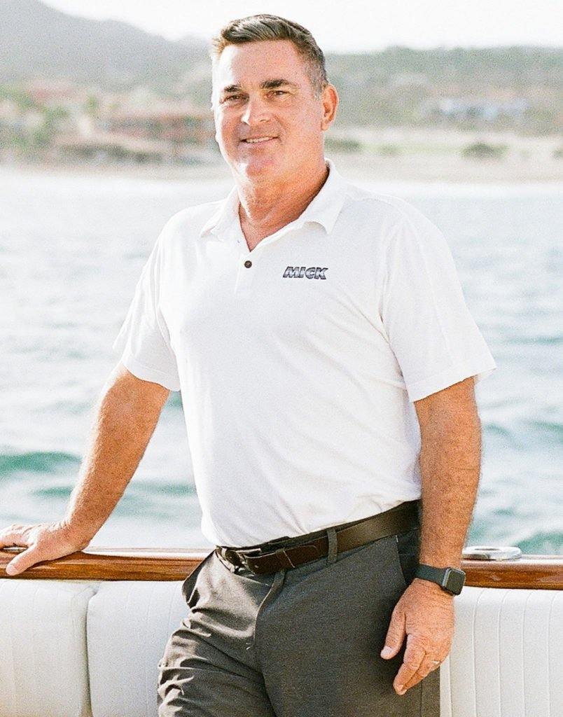 This is a photo of Captain Peter aboard the Mick.